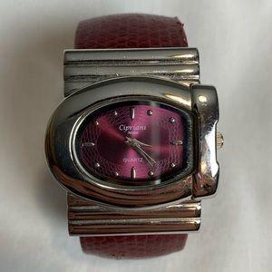 🔥 3/$15 Red Cipriani Milan Quartz Watch